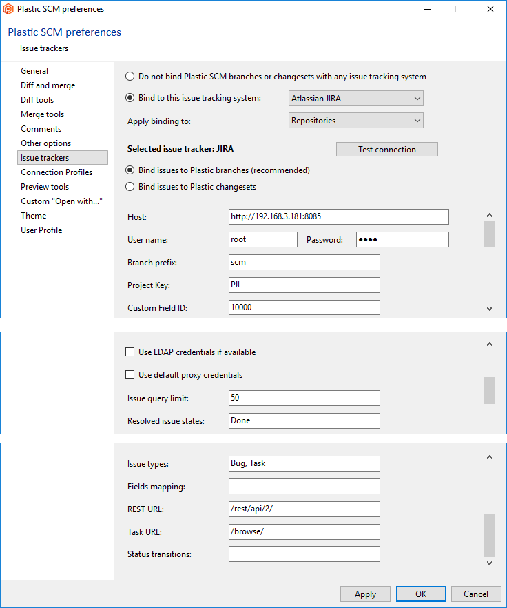 Plastic SCM version control · Task and issue tracking