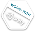 Works with Unity 3D