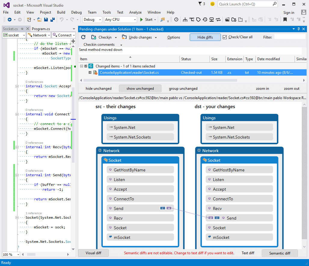 fully integrated with visual studio small visualdiff