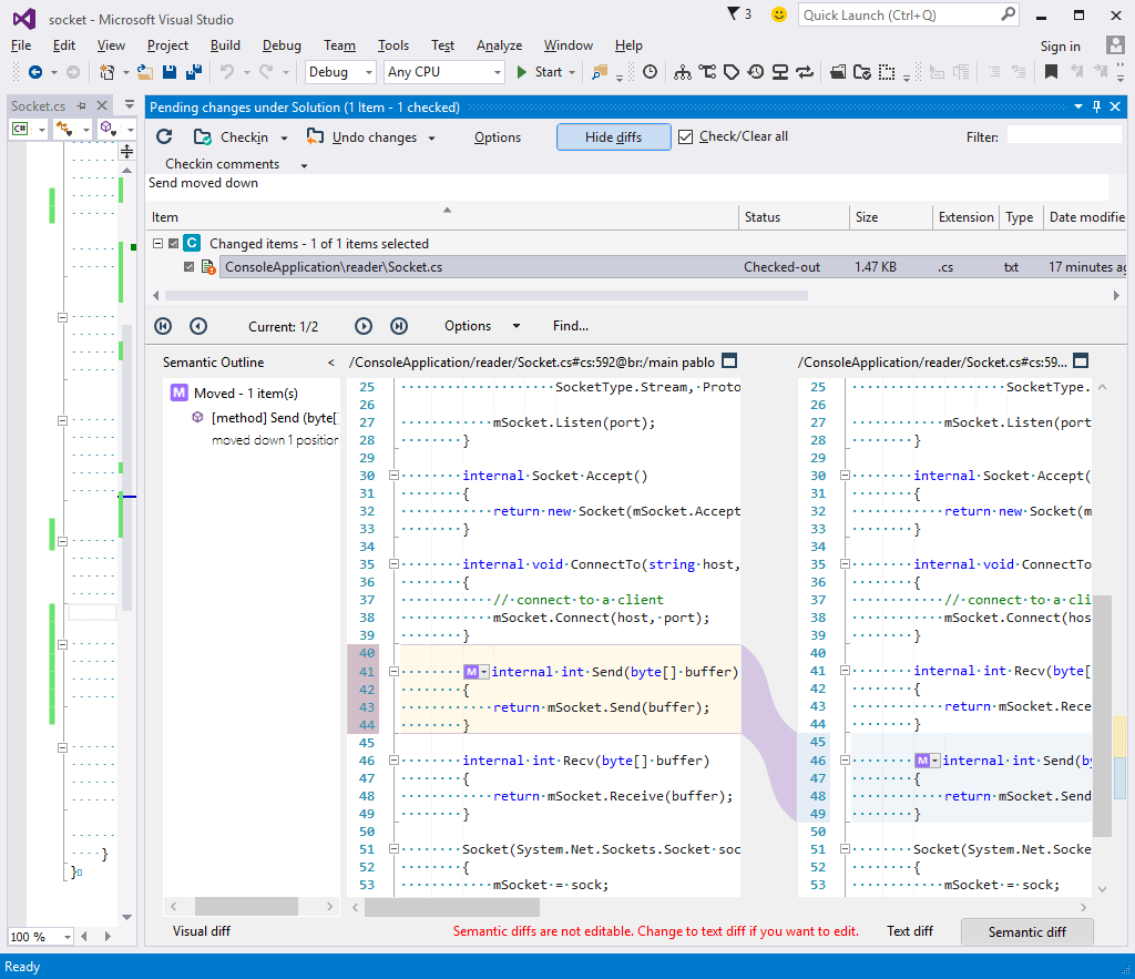 fully integrated with visual studio small